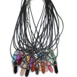 2/$20! Natural Stone Healing Crystal Necklace